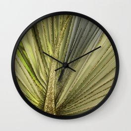 Leaf Peacock Wall Clock