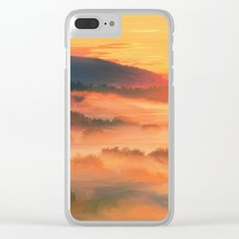 Sunset before Clear iPhone Case