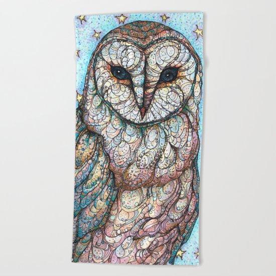Barn Owl Beach Towel