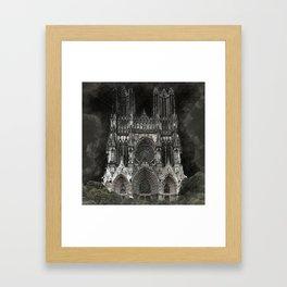 Cathedral Black Framed Art Print