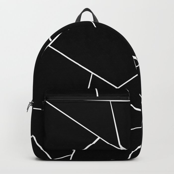 Black White Geometric Glam #2 #geo #decor #art #society6 Rucksack