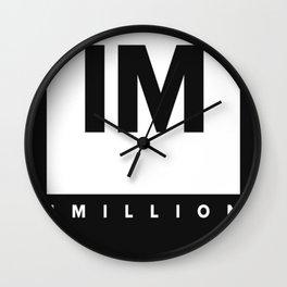 1 MILLION Dance Studio Logo (White Version) Wall Clock