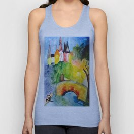 Castle on the Hill Unisex Tank Top