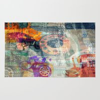 telephone Area & Throw Rugs featuring Telephone by Arken25