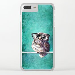 Intellectual Owl Clear iPhone Case