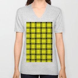 Large Yellow Weave Unisex V-Neck