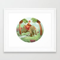 hindu Framed Art Prints featuring hindu boy by Grubert