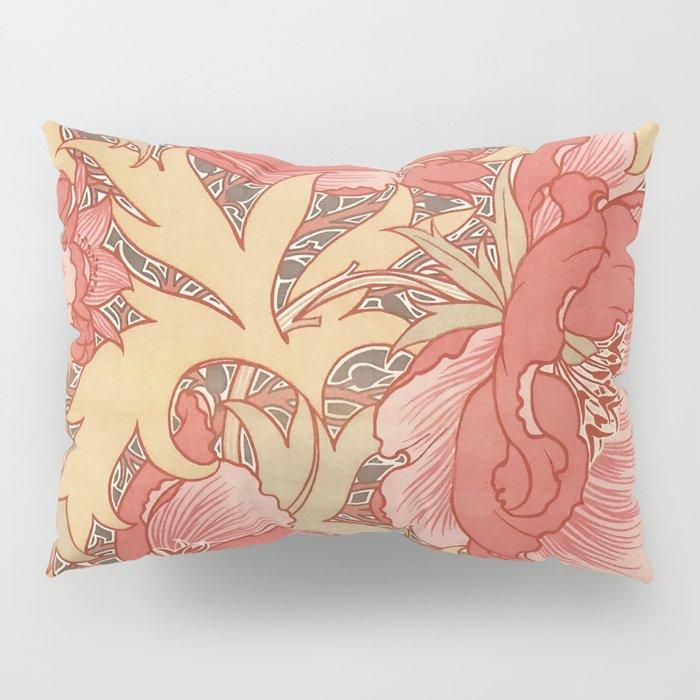 William Morris Poppies Floral Art Nouveau Pattern Pillow Sham