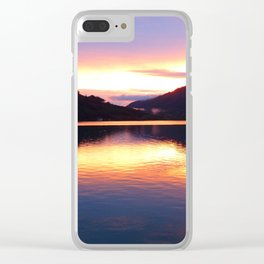 Lake Sunset Clear iPhone Case