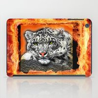 snow leopard iPad Cases featuring Snow Leopard by SwanniePhotoArt