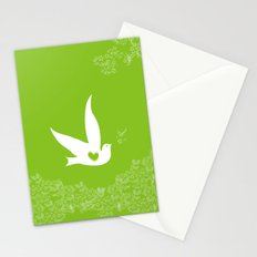 Love and Freedom - Green Stationery Cards