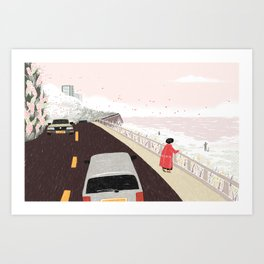 A Moment of Warmth Art Print