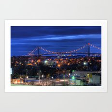 Ambassador Bridge Art Print
