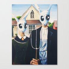 Rabbit Gothic Canvas Print
