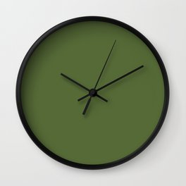 Perfect Day ~ Moss Green Wall Clock