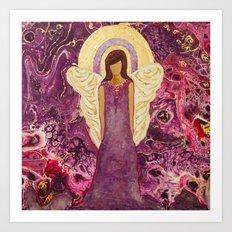 Amethyst the Angel of Healing Art Print