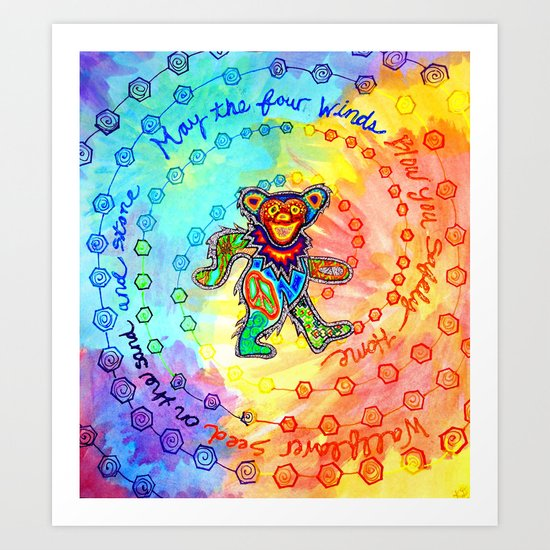 May the Four Winds Blow You Safely Home Art Print