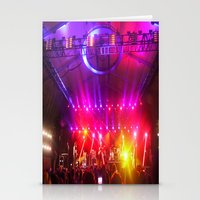 coachella Stationery Cards featuring Midnight City M83 Coachella by The Electric Blue / YenHsiang Liang