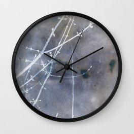 Nature's Graphics Cyanatope Print Wall Clock
