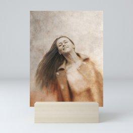 Woman smile Mini Art Print