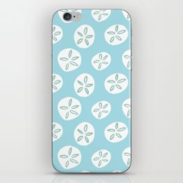 Sand Dollars Sea Urchin in Blue iPhone Skin