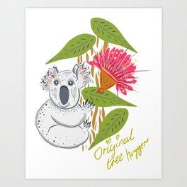 Koala animal nature lover happy print Art Print