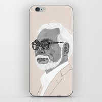 hayao miyazaki iPhone & iPod Skins featuring Hayao Miyazaki by Andy Christofi