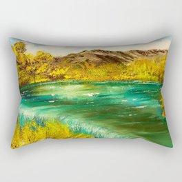Emerald Falls Rectangular Pillow