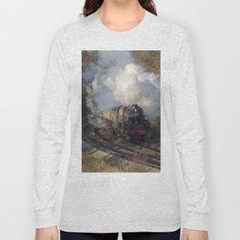 Steam locomotive 73156 Portrait Long Sleeve T-shirt