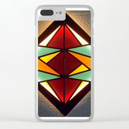 Stained Glass Light Art No.04 Geometric Design Clear iPhone Case