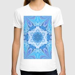 blue kaliedoscope T-shirt