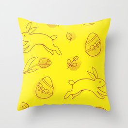 Rabbit gifts | Easter gifts | Easter decorations | Easter Bunny | Spring decor Throw Pillow