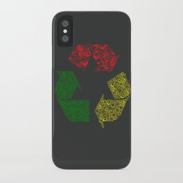 Peace, Love and Happiness iPhone Case