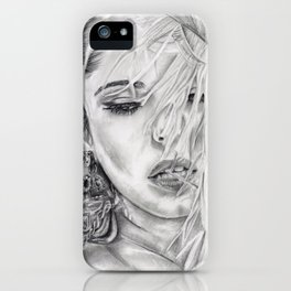 Feather Girl Aloud iPhone Case