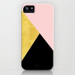 Color Bloc Triangles iPhone Case
