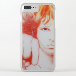 'I See Your Hair Is Burning' Clear iPhone Case