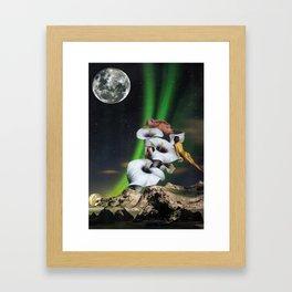 bronsage au clair de lune Framed Art Print