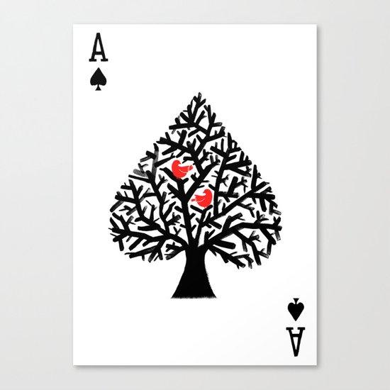 Ace of spade Canvas Print