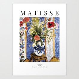 Henri Matisse - Poppies - Exhibition Poster Art Print