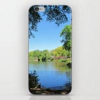 central park iPhone & iPod Skins featuring Central Park by Burcu Tekin