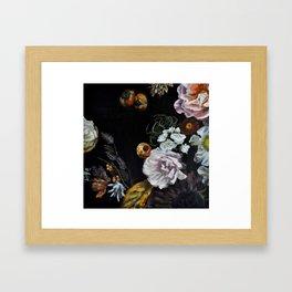 Autumnal in Black Framed Art Print