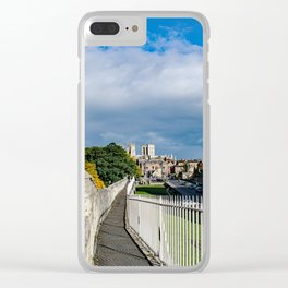 York City Roman wall and Minster Clear iPhone Case