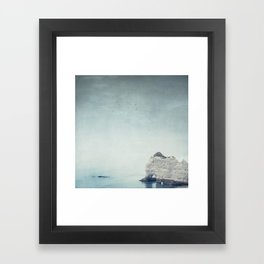Falaise d'Amont - Côte d'Albatre Normandie France Framed Art Print