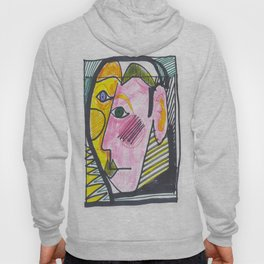 """Atrocious Face"" - a scan of artwork By Dorothy Messenger, copyrighted Hoody"