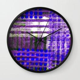 Street Plaid-Ultra Blue Wall Clock