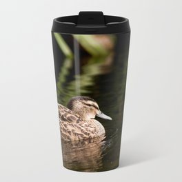 Female Mallard Duck Metal Travel Mug