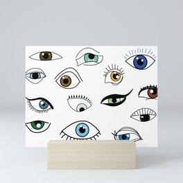 Eye game Mini Art Print