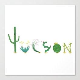 Tucson Cacti Letters Canvas Print