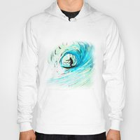 surfer Hoodies featuring Surfer by Bruce Stanfield