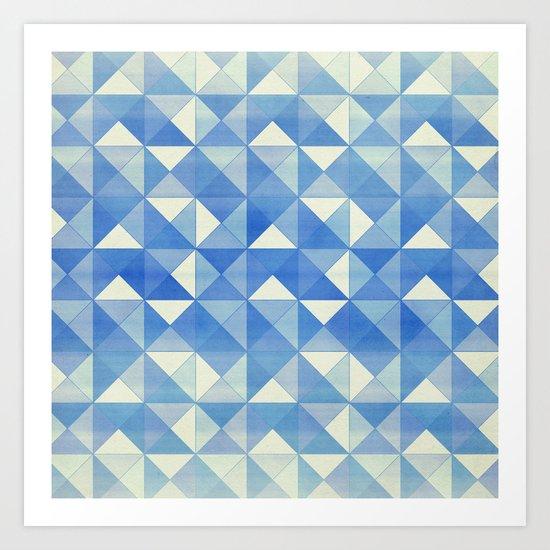Blue : Pattern Art Print